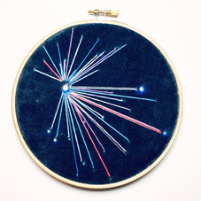 Small Sky Study no.6	 Embroidery on printed velvet 12/12cm		 £40
