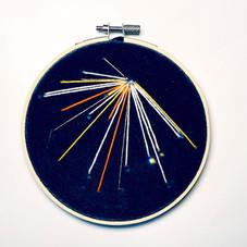 Small Sky Study no.8 Embroidery on printed velvet 12/12cm £40