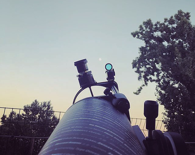 Holiday moon gazing, first shots of the