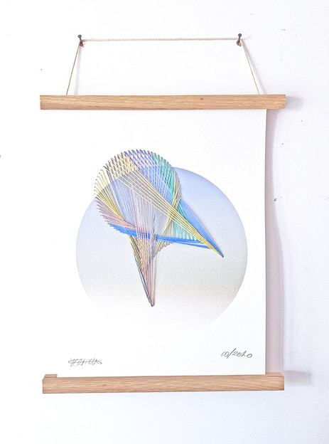 Starlight with Thread - Delphenius  Digital Print and Embroidery  Cold Pressed Watercolour Paper  300gsm £208