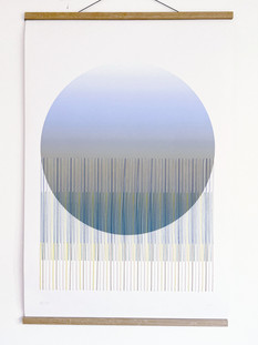 Starlight with Thread - Draco Digital Print and Embroidery Cold Pressed Watercolour Paper  300gsm 60/90cm £450