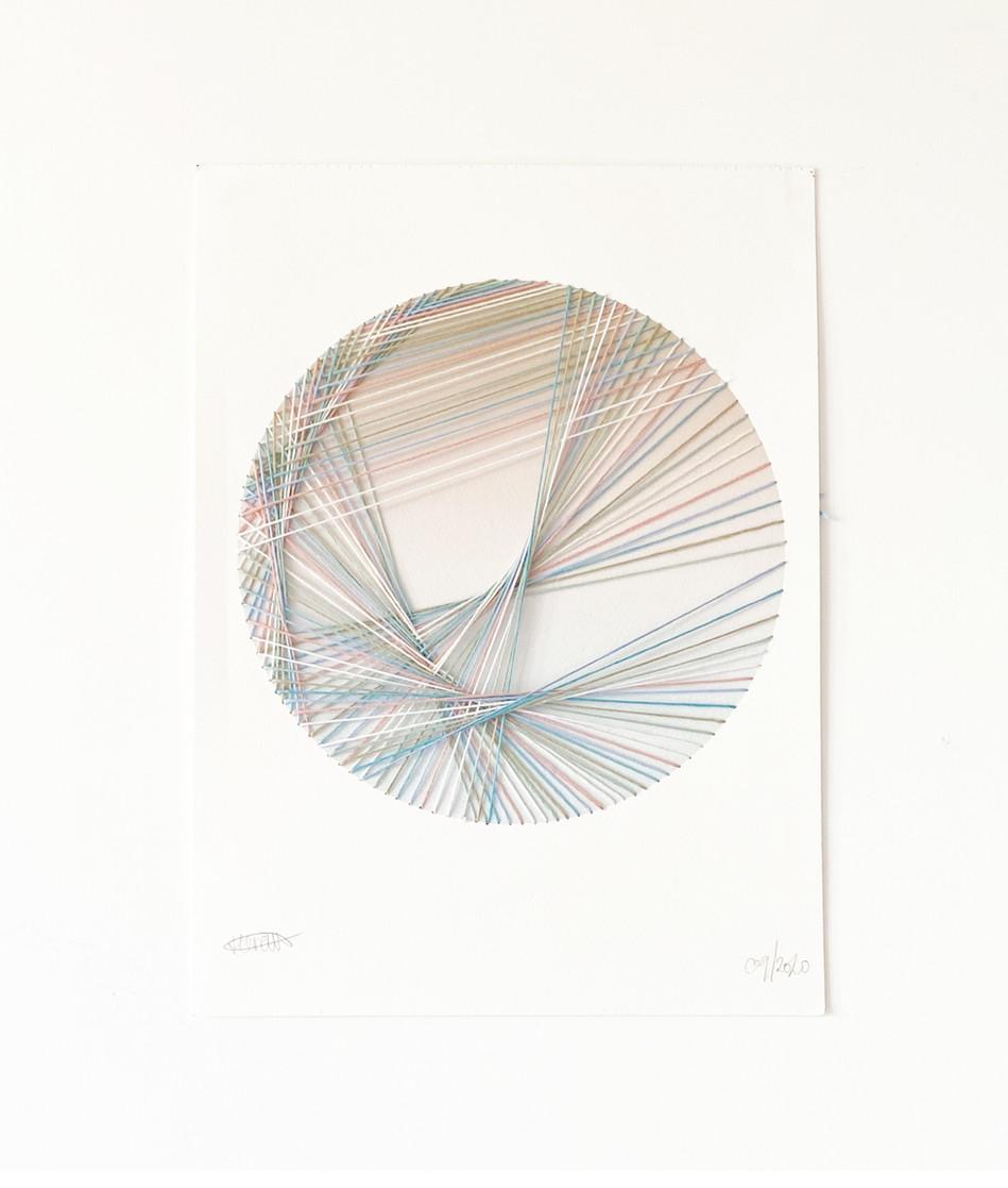 Starlight Threads - Segatta Embroidery on Digital Print 300gsm Cold Pressed Watercolour Paper 28/38 cm