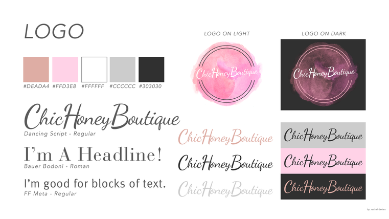 Chic Honey Boutique Moodboard