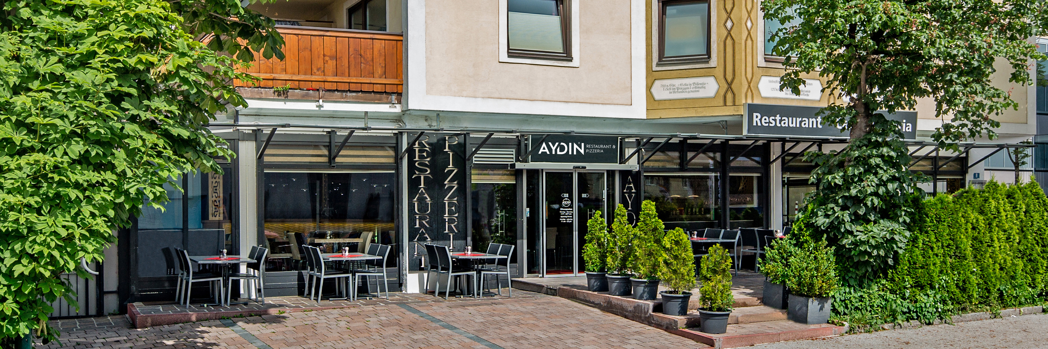 Restaurant & Pizzeria Aydin Außen Essenbereich
