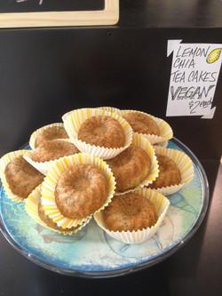 Vegan Lemon Chia Teacakes