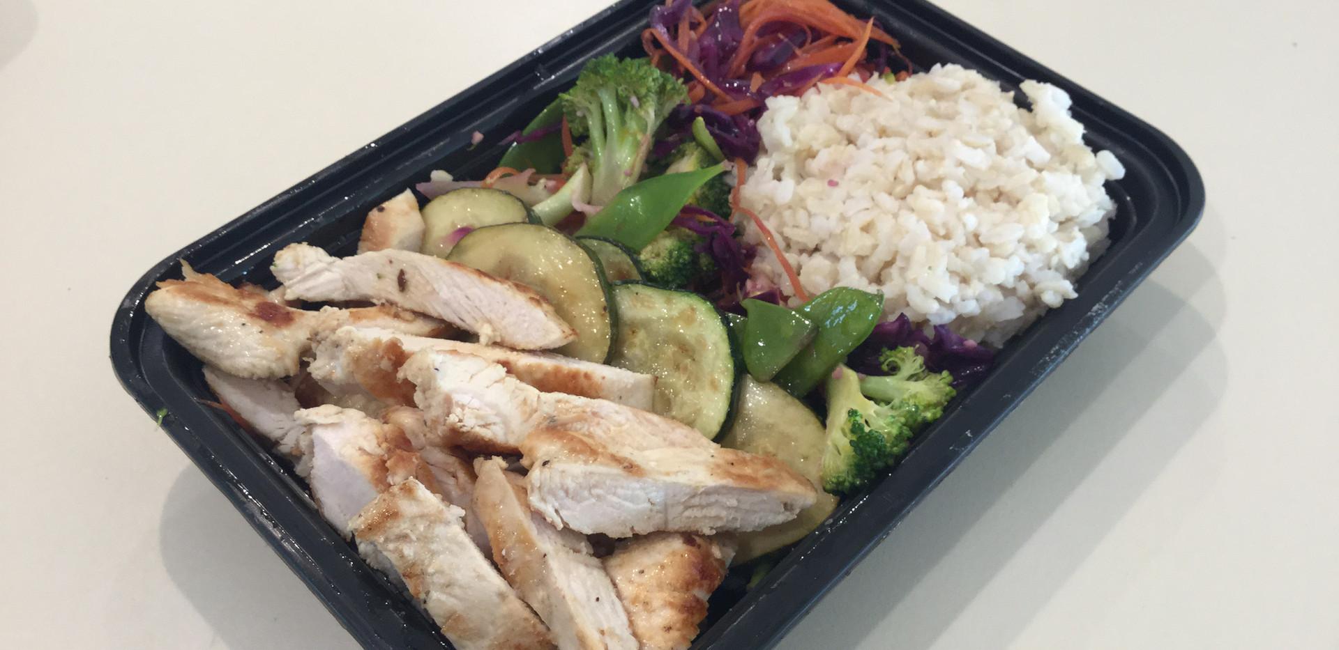 Brown Rice Bowl w/ Grilled Chicken