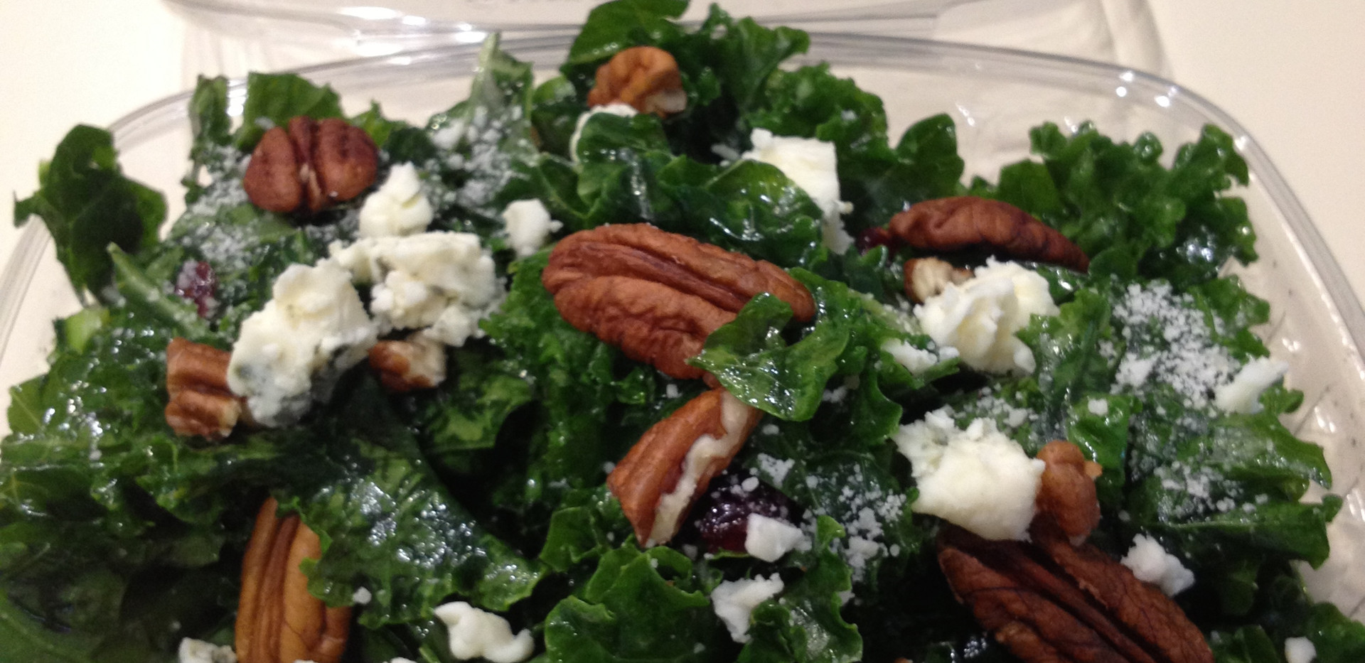 Honey Lemon Kale Salad w/ Bleu Cheese