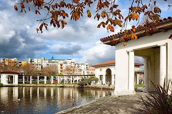 Oakland, California downtown Lake Merrit