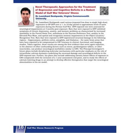 Research highlights from CDMRP Gulf War Illness Program Book