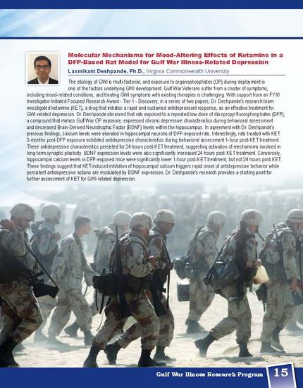 Gulf War Illness Program Book 2020- Research Highlights