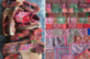 Handmade shoes and Hmong applique.jpg
