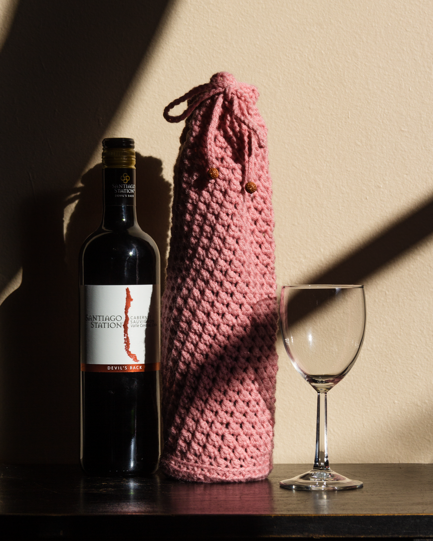 Wine Bottle Covers by Yarn and Stones