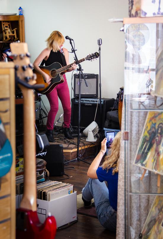 Lesa Silvermore at Rocket Records, Sarasota, FL