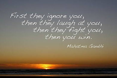 Gandhi - First they ignore you