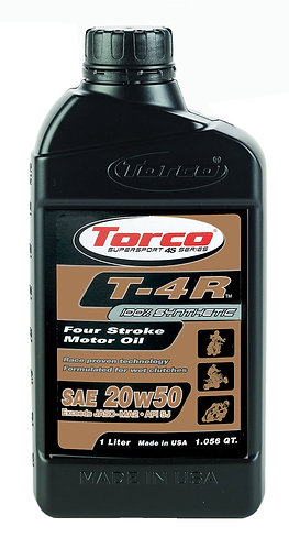 Torco T-4R 20W50 100% Synthetic Four Stroke Motor Oil - 1 Liter