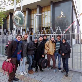 In front of Vahdat Hall in Tehran