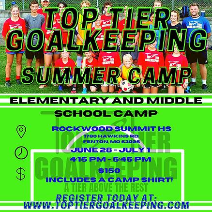 Top Tier Goalkeeping Summer Camp Flyer.p