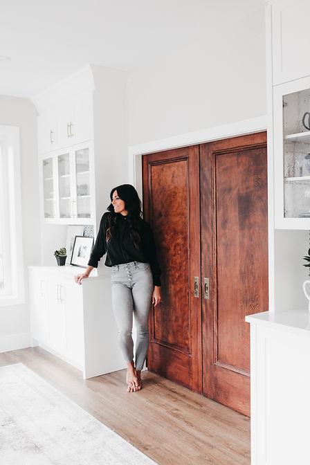 White built-ins reclaimed doors lisa clark design