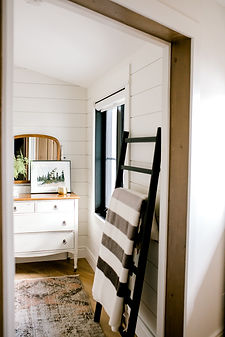 Lisa Clark Design, Cottage, Shiplap, Benjamin Moore Soft Chamois, Doorway