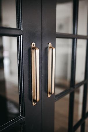 Lisa Clark Design Winnipeg Manitoba Interior Design Lisa Clark Design black barn doors brass hardware