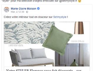 Marie Claire Maison parle de ma sélection