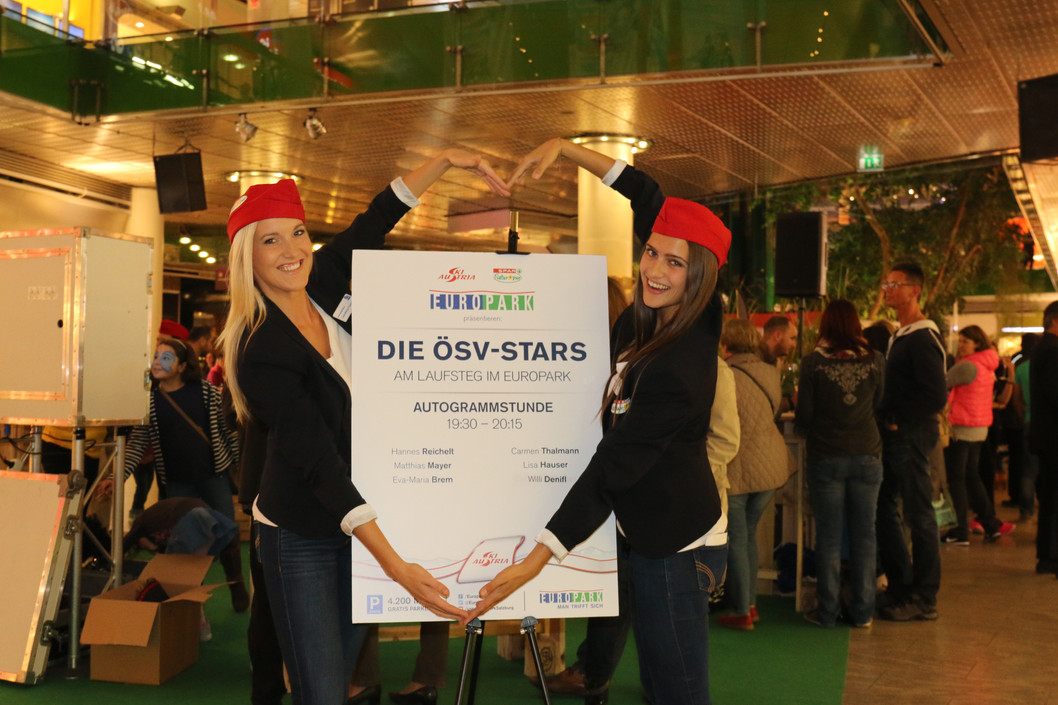 ÖSV-Skistars im Europark, Hostessenservice