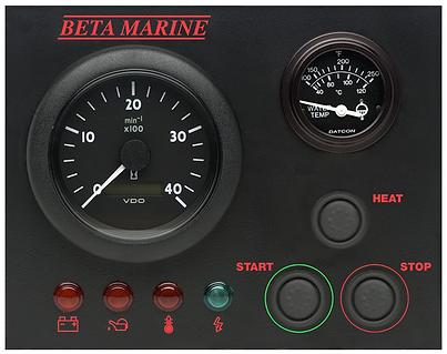 Beta Marine Control Panel BW
