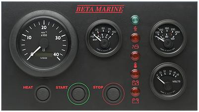 Beta Marine Control Panel 'CW' Deluxe