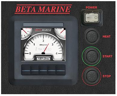 Beta Marine Control Panel 'D'