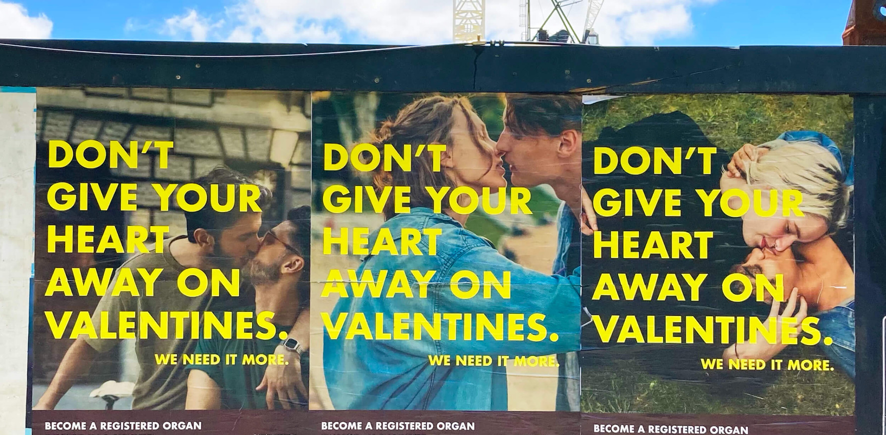 This campaign's aim is to target one of the lowest demographics of organ donors in Australia, young men. This creative ran on a national Tinder, social and inner-city billposter media buy. This campaign was funded by the Community Awareness Grants.