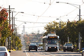 Public transport trams Toorak Road