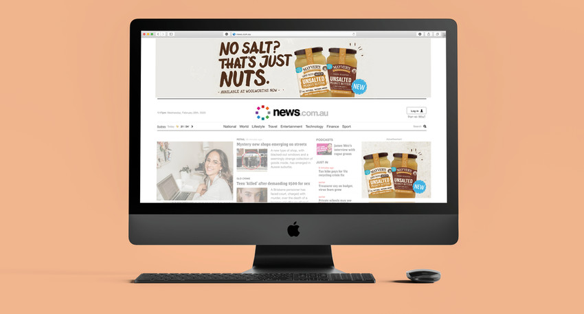 Campaigns to promote Mayver's Peanut butter high protein and no salt range.
