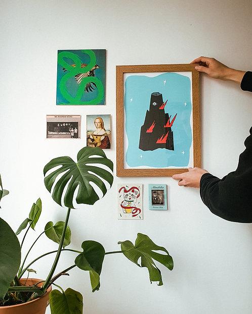 Silkscreen print 'The Spirit Mountain'