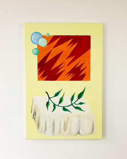 Only in memory painting Esther Vandenbroele
