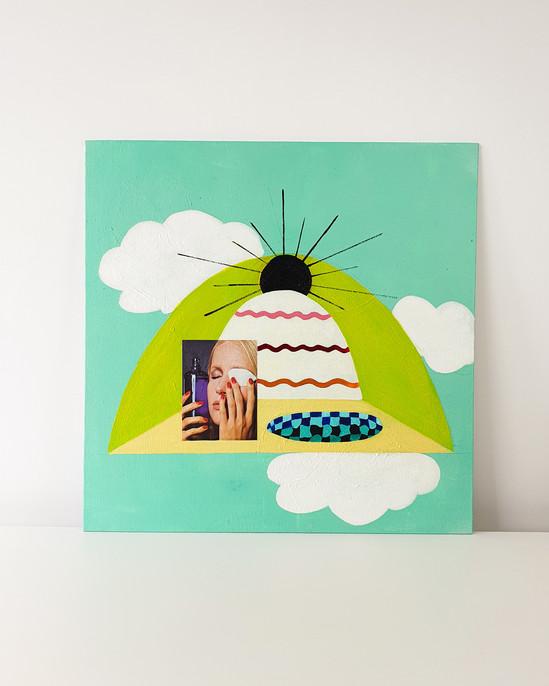 Geheel school Completely pure Painting Esther Vandenbroele
