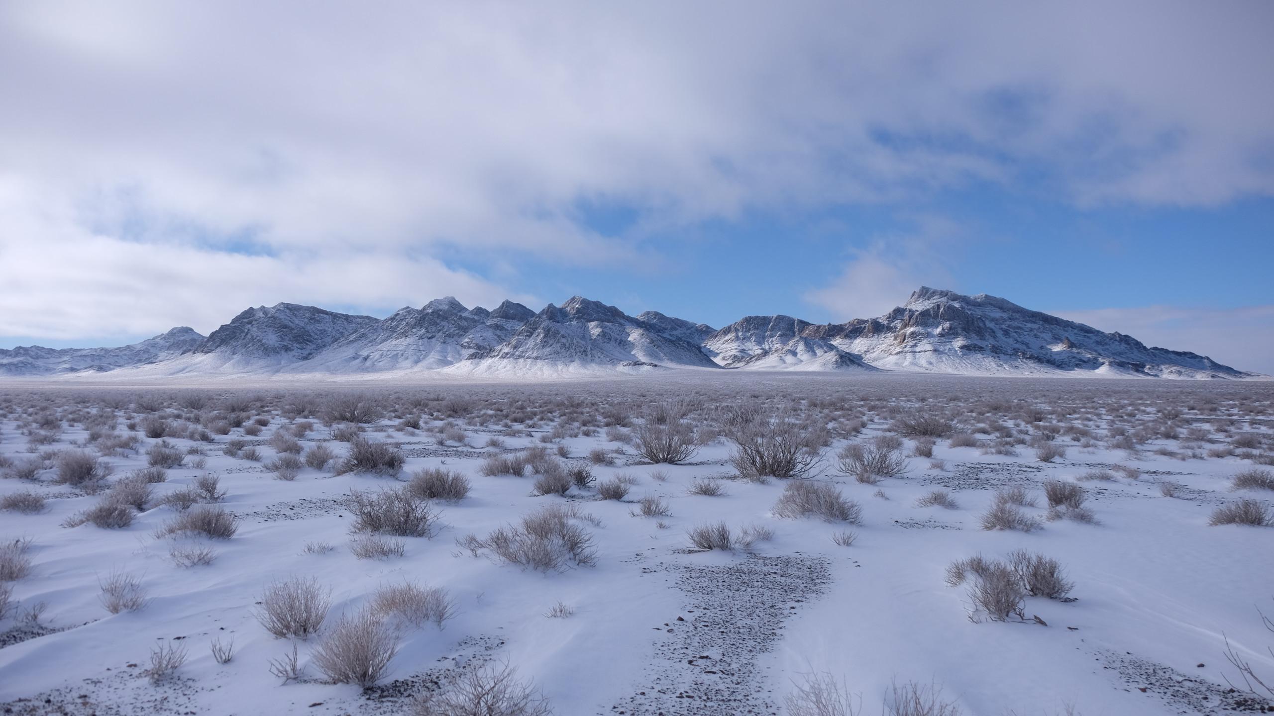 Neige dans le désert