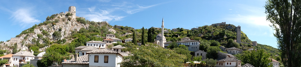 Sur la route de Bosnie à la sortie de Mostar