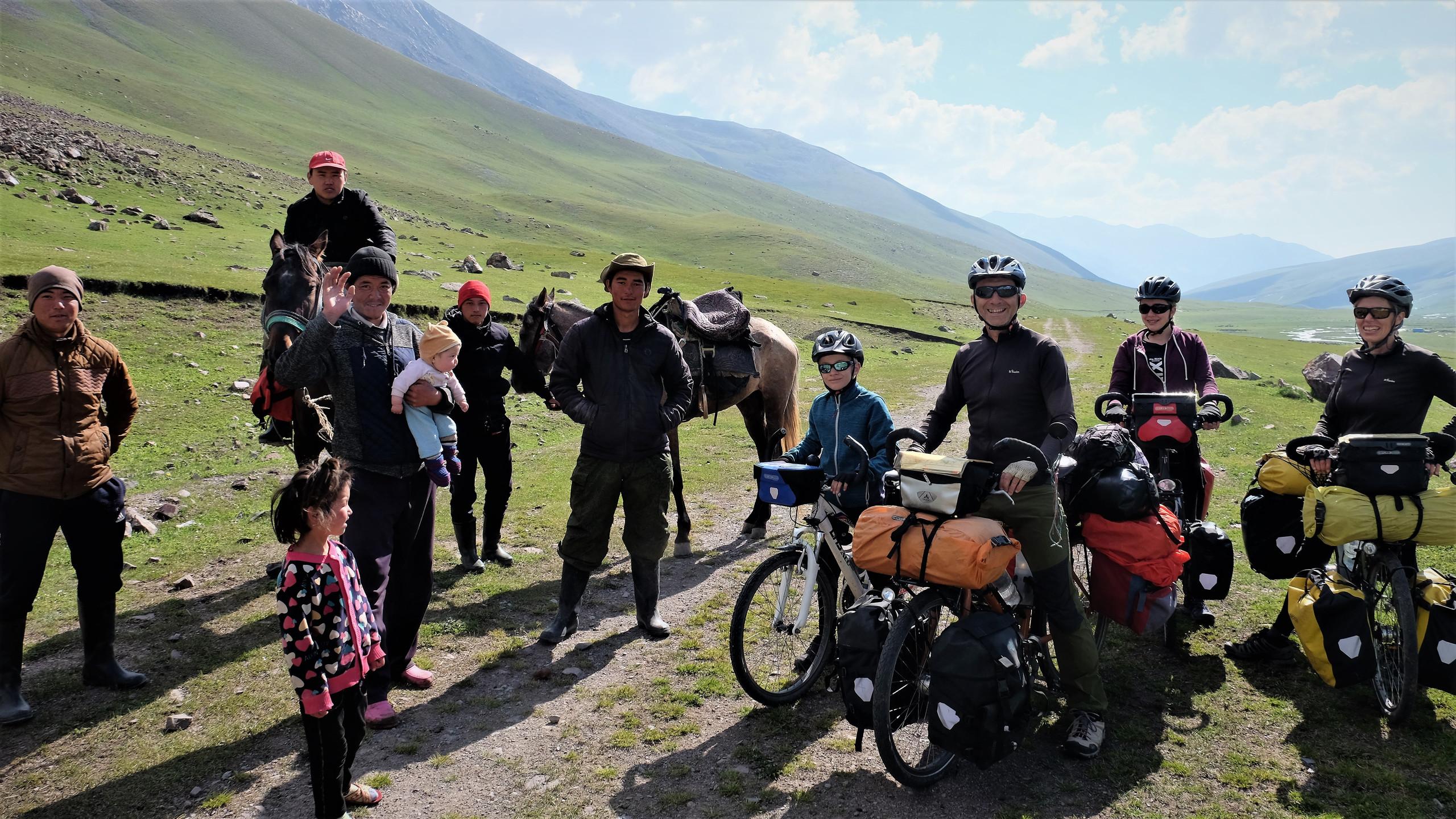 Rencontre avec des nomades Kyrgyzes.