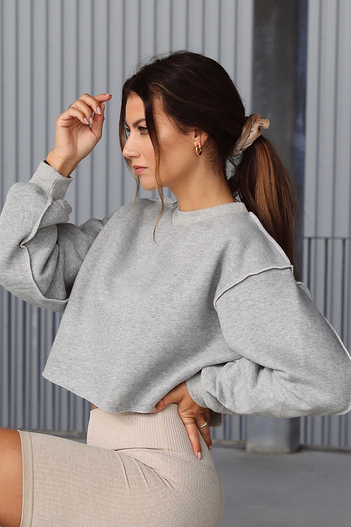 CROPPED SWEATER GREY