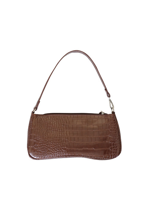 BROWN CROCO BAG
