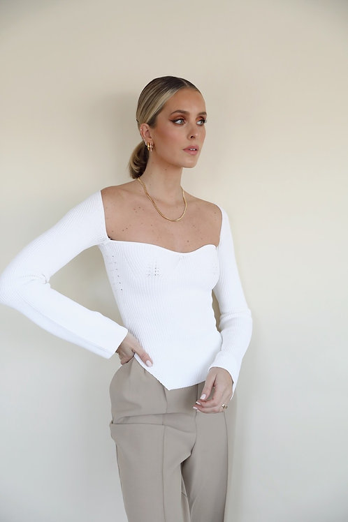 LONG SLEEVE TOP WHITE