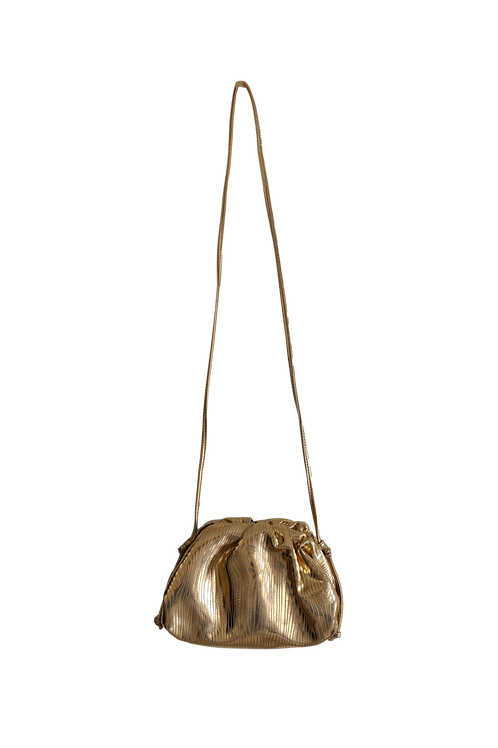 CECILE GOLD CLUTCH BAG