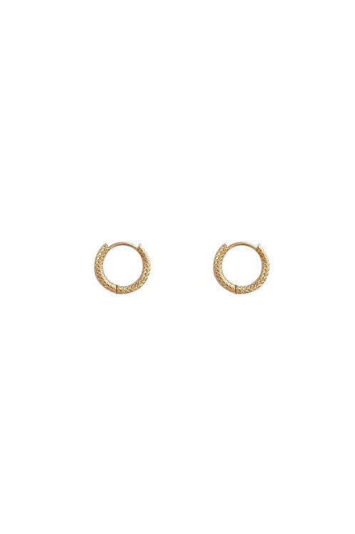 MINI TEXTURED HOOPS