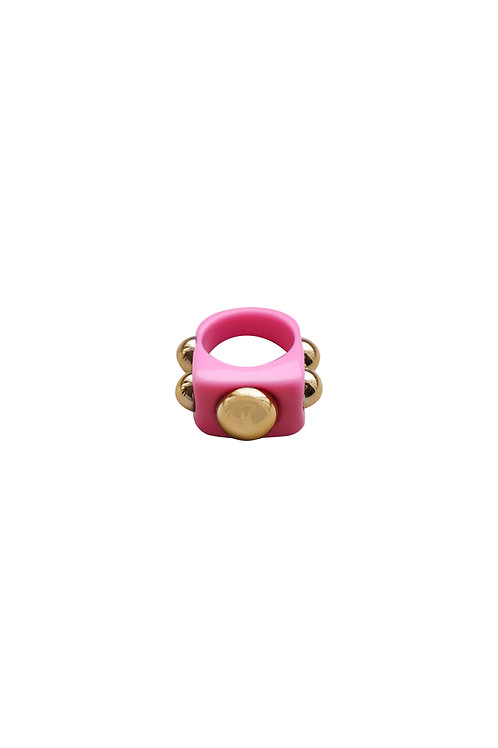 CHUNKY RING PINK