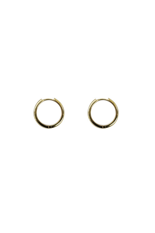 GOLD HOOPS 18MM