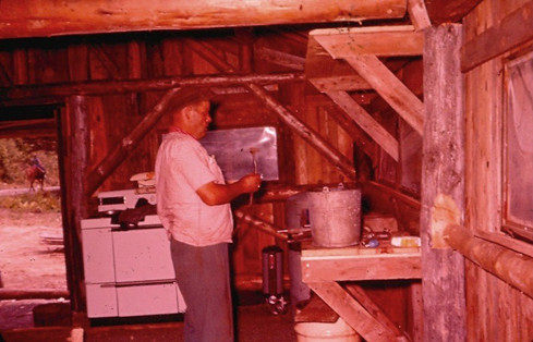 B.  Building Cook Shack - Horace Taylor.