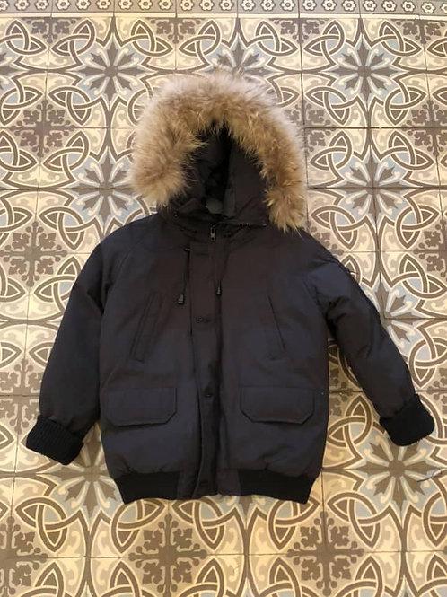 Coole jas zwart met mooie pels