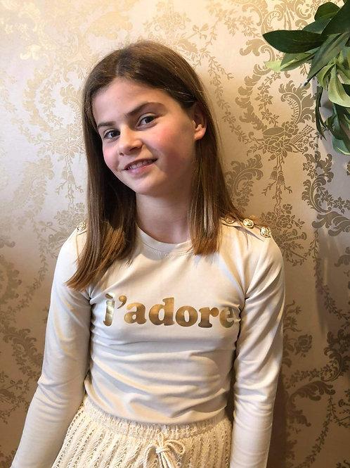 J'adore t-shirt lange mouwen