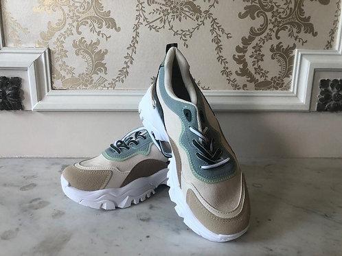 Hippe Sneakers beige/groen