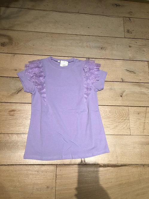 Speelse T-shirt Lila